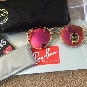 New Ray-Ban RB3447 Round Metal
